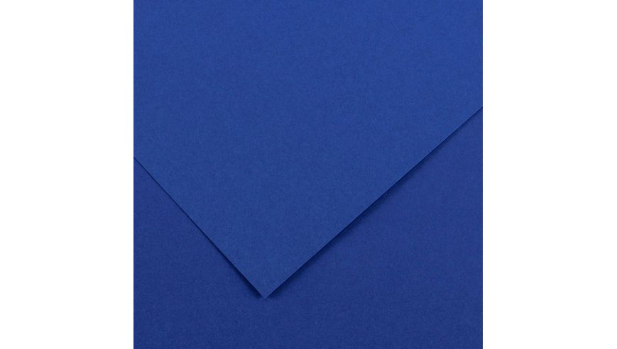 Canson Colorline 150 GSM 50 x 65 cm Pack of 25 Smooth & Light Grain Sheets - Royal Blue
