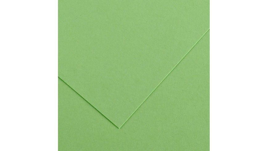 Canson Colorline 150 GSM 50 x 65 cm Pack of 25 Smooth & Light Grain Sheets - Apple Green