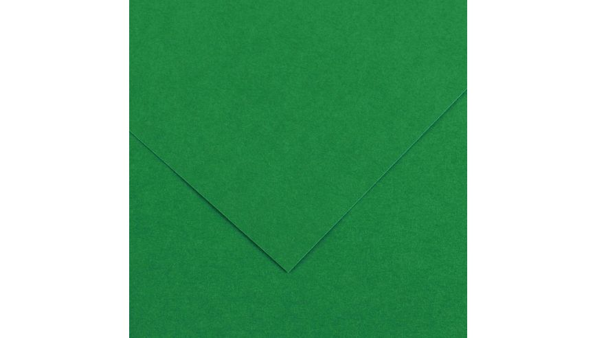 Canson Colorline 150 GSM 50 x 65 cm Pack of 25 Smooth & Light Grain Sheets - Moss Green