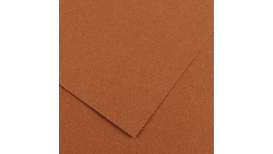 Canson Colorline 150 GSM 50 x 65 cm Pack of 25 Smooth & Light Grain Sheets - Nut