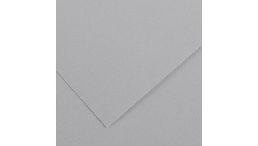 Canson Colorline 150 GSM 50 x 65 cm Pack of 25 Smooth & Light Grain Sheets - Light Grey