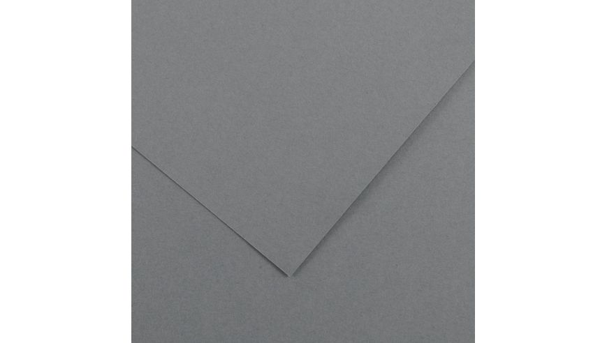 Canson Colorline 150 GSM 50 x 65 cm Pack of 25 Smooth & Light Grain Sheets - Dark Grey