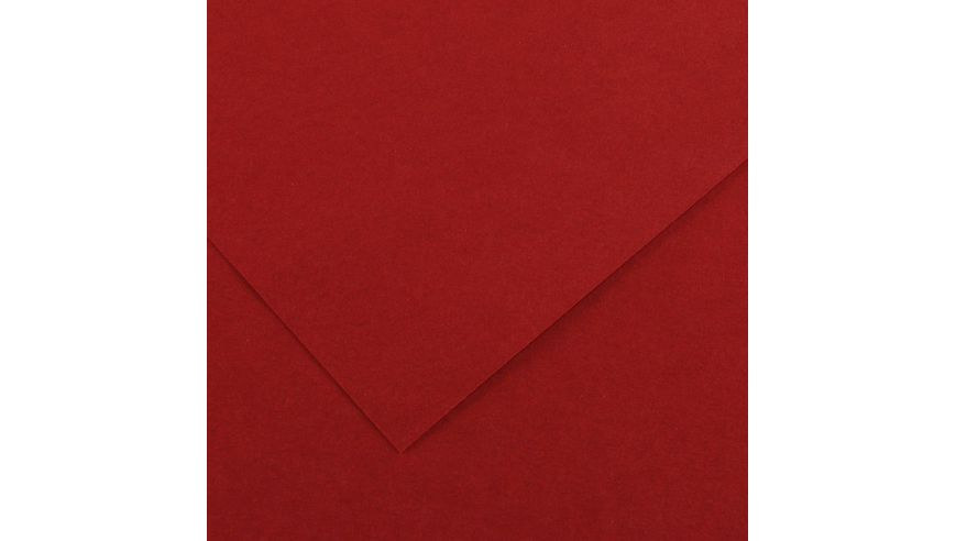 Canson Colorline 300 GSM A4 Pack of 5 Smooth & Light Grain Sheets - Dark Red