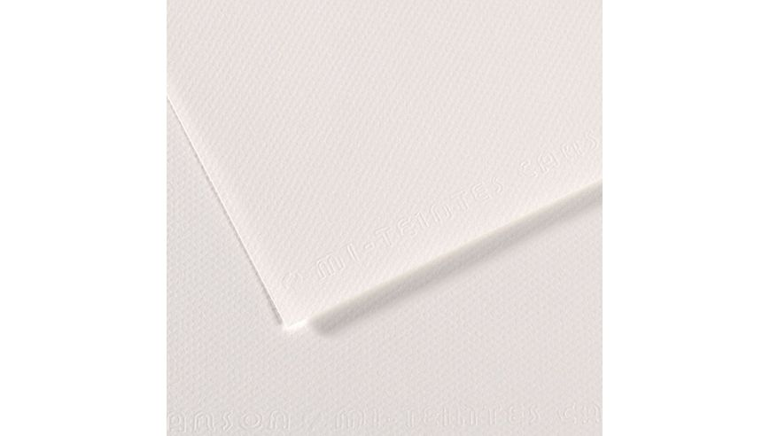 Canson Mi-Teintes 160 GSM 55 x 75 cm Pack of 25 Honeycomb & Fine Grain Sheets - White