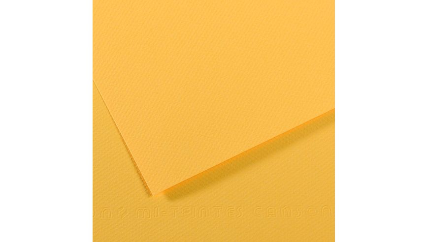 Canson Mi-Teintes 160 GSM 55 x 75 cm Pack of 25 Honeycomb & Fine Grain Sheets - Canary