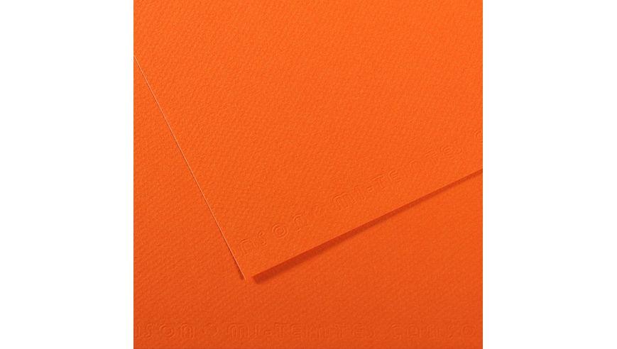 Canson Mi-Teintes 160 GSM 55 x 75 cm Pack of 25 Honeycomb & Fine Grain Sheets - Orange