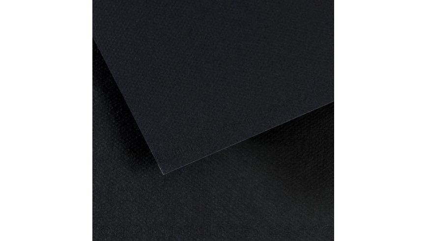 Canson Mi-Teintes 160 GSM 55 x 75 cm Pack of 25 Honeycomb & Fine Grain Sheets - Black