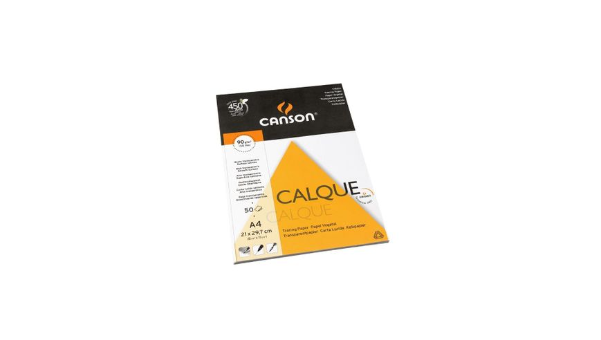 Canson Tracing 90 GSM A4 Pad of 50 Satin Grain Sheets