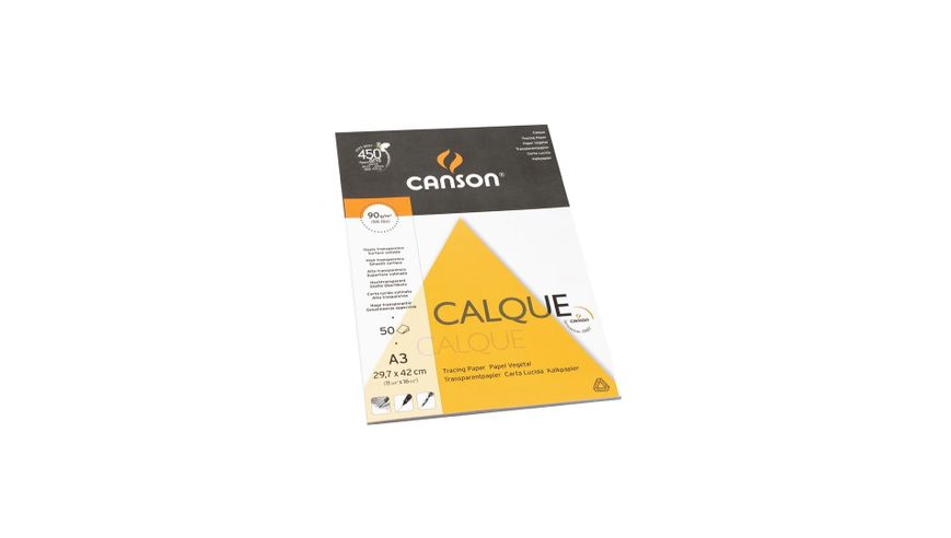 Canson Tracing 90 GSM A3 Pad of 50 Satin Grain Sheets