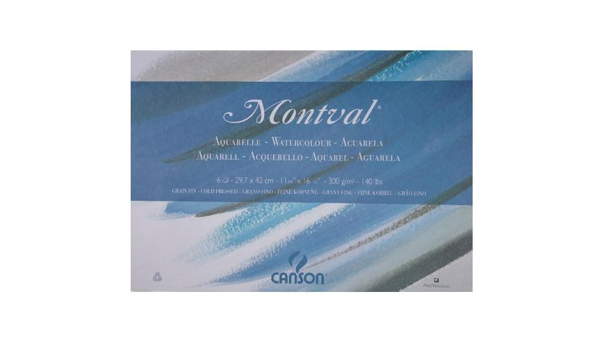 Canson Montval 300 GSM A3 Folder of 6 Fine Grain Sheets