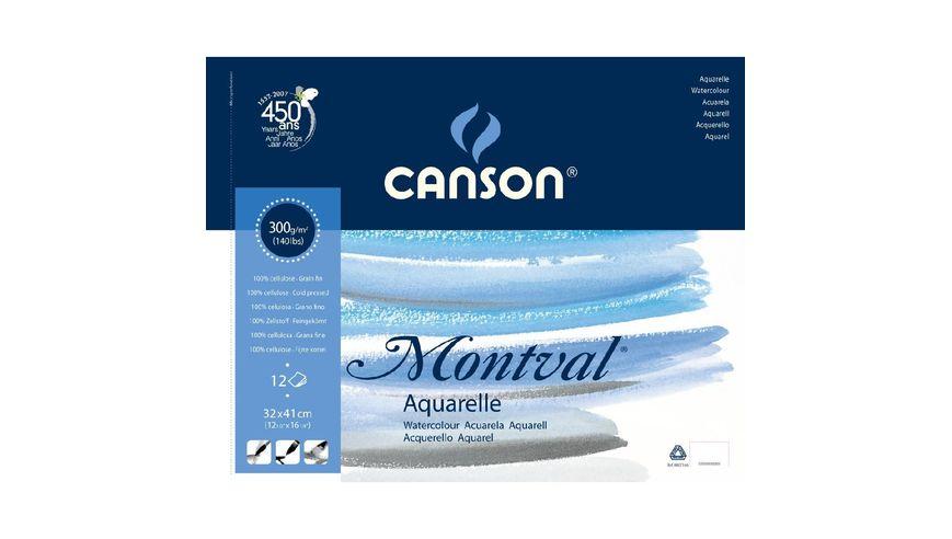 Canson Montval 300 GSM 32 x 41 cm Album of 12 Fine Grain Sheets