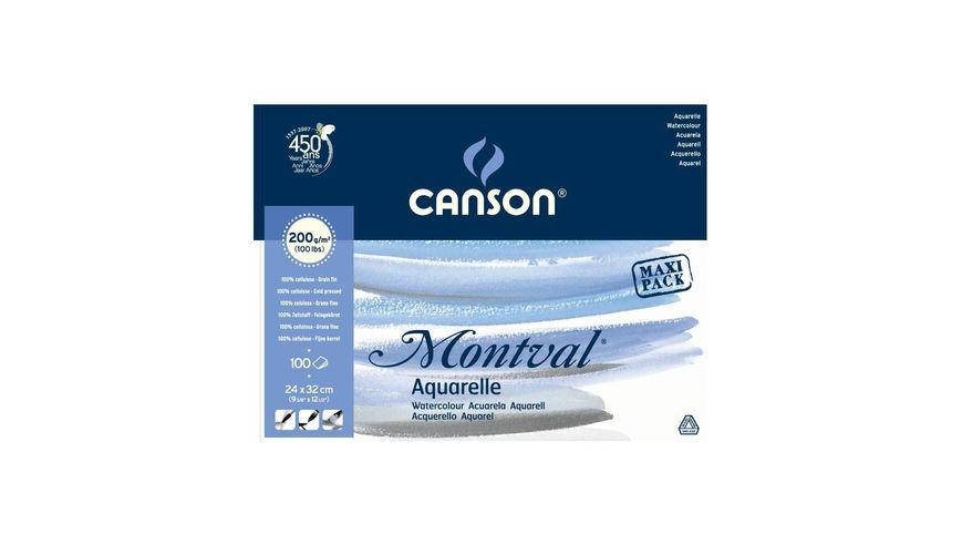 Canson Montval 200 GSM 24 x 32 cm Pad of 100 Fine Grain Sheets