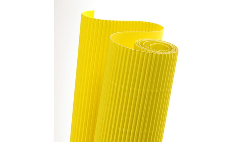 Canson Corrugated Cardboard Paper Roll - 300 GSM, 50 x 70 cm  - Lemon