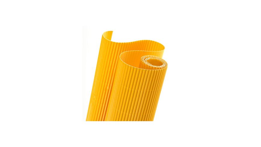 Canson Corrugated Cardboard Paper Roll - 300 GSM, 50 x 70 cm  - Golden Yellow