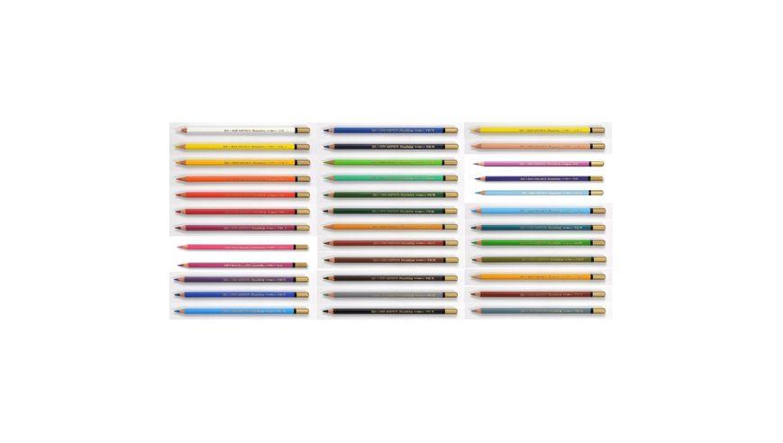 Koh-I-Noor Mondeluz Artist's Water Soluble Coloured Pencils - Assorted - Set of 36