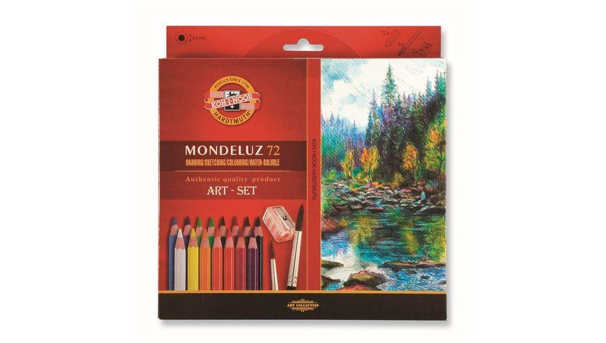Koh-I-Noor Mondeluz Artist's Water Soluble Coloured Pencils - Assorted - Set of 72 in Card Box