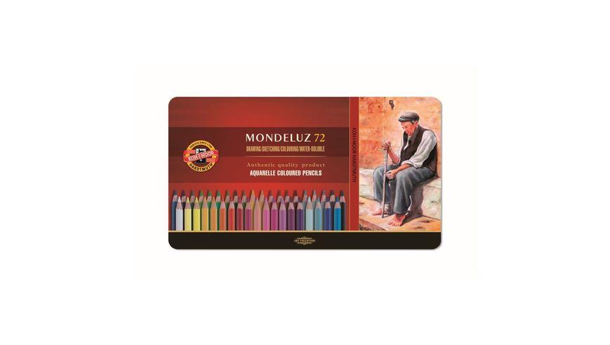 Koh-I-Noor Mondeluz Artist's Water Soluble Coloured Pencils - Assorted - Set of 72 in Tin Box