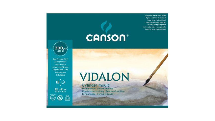 Canson Vidalon 300 GSM 32 x 41 cm Pad of 12 Prominent / Medium Grain Sheets