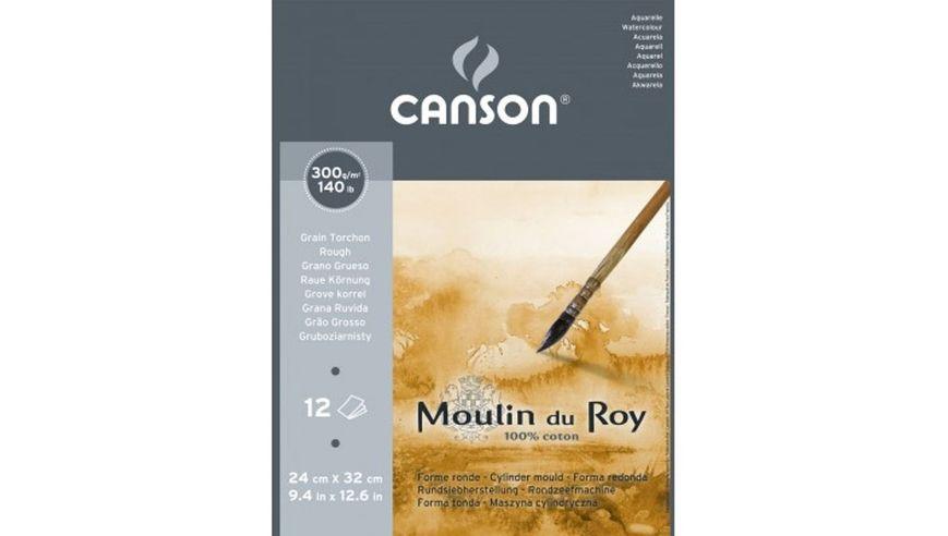Canson Moulin du Roy 300 GSM 24 x 32.5 cm Pad of 12 Rough Grain Sheets