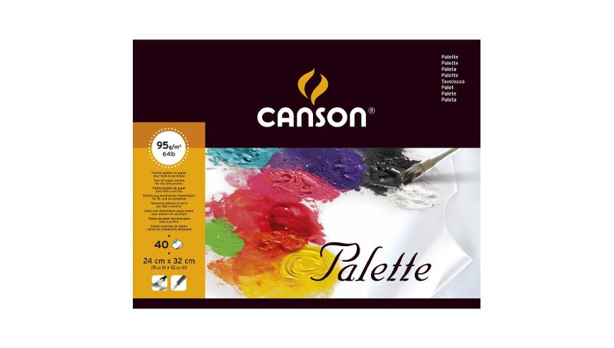 Canson Palette 95 GSM 24 x 32 cm Pad of 40 Smooth Grain Sheets