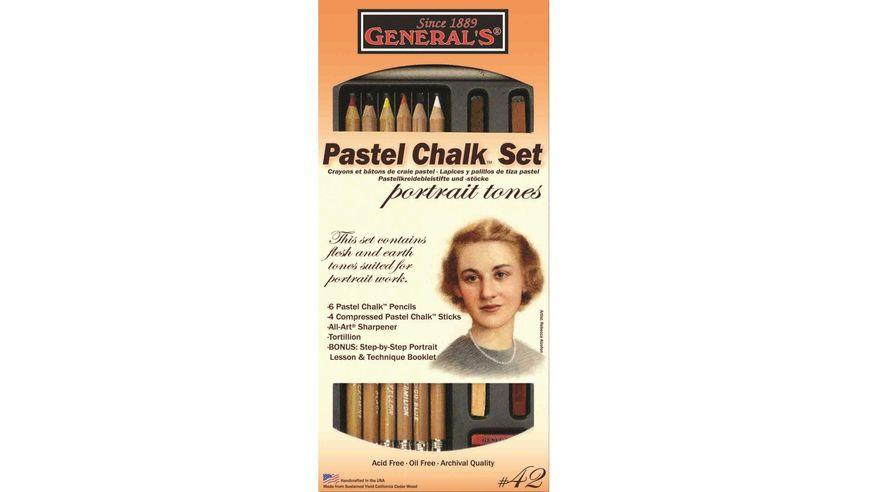 General's Multi-Pastel Chalk Set for Portraits - Art Set of 13 Pieces