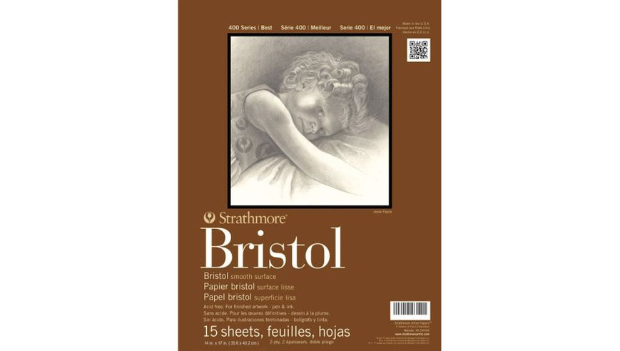Strathmore 400 Bristol Smooth Extra White Paper Pad 14x17