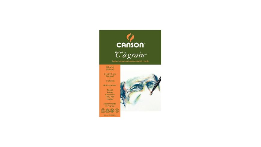 Canson C a' grain 180 GSM A4 Pack of 10 Fine Grain Sheets