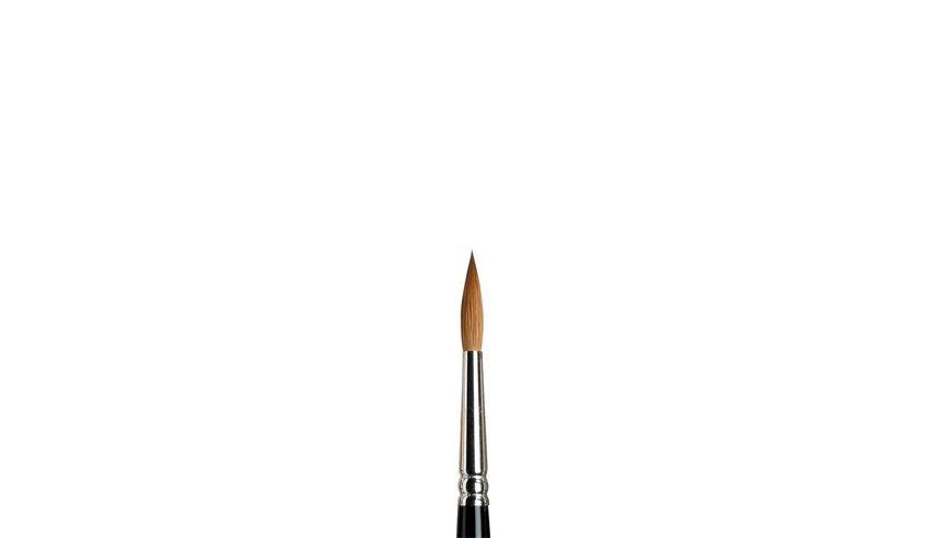 Winsor & Newton Series 7 Kolinsky Sable Hair Brush - Round Pointed - Short Handle - Size: 6