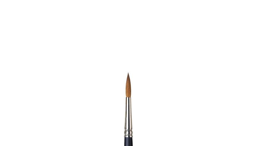Winsor & Newton Artist's Water Colour Kolinsky Sable Hair Brush - Round - Short Handle - Size: 7