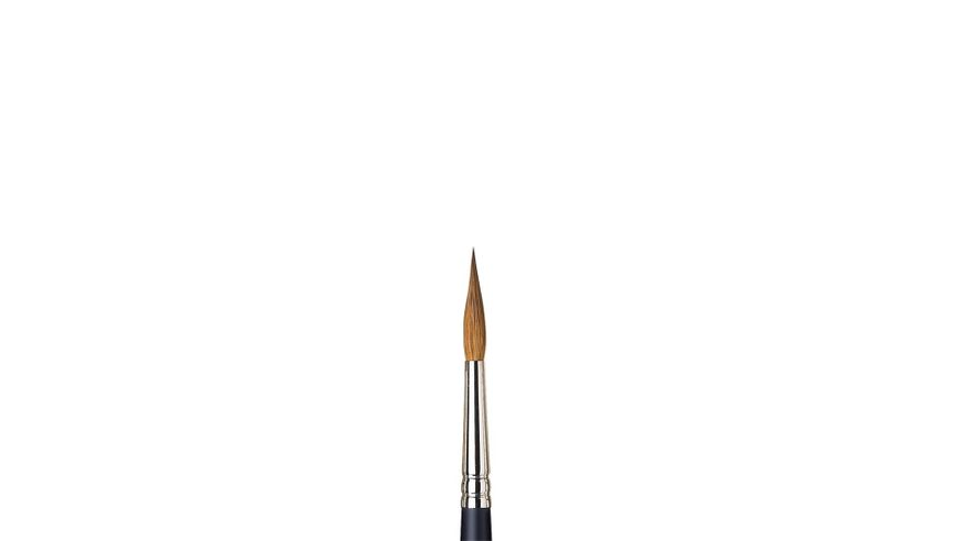 Winsor & Newton Artist's Water Colour Kolinsky Sable Hair Brush - Round Pointed - Short Handle - Size: 7