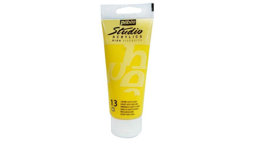 Pebeo Studio Acrylic High Viscosity 100 ml Light Azo Yellow 13