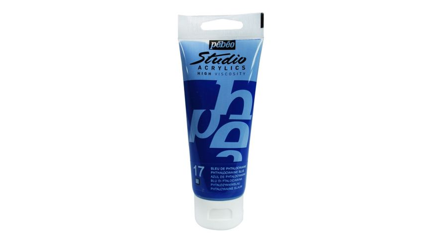 Pebeo Studio Acrylic High Viscosity 100 ml Phthalocyanine Blue 17