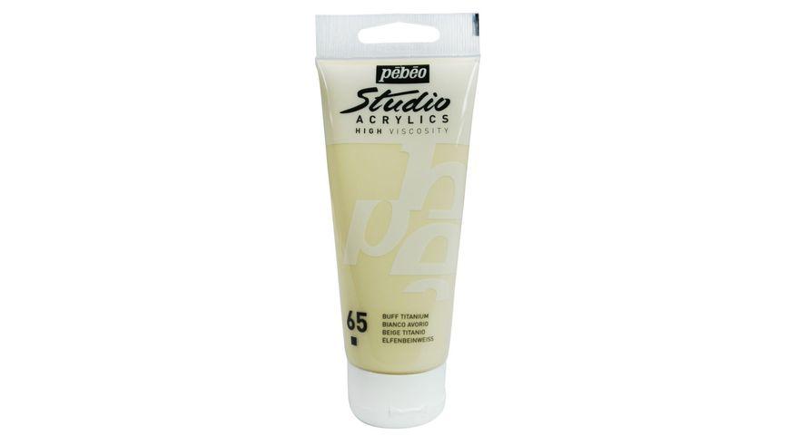 Pebeo Studio Acrylic High Viscosity 100 ml Buff Titanium 65