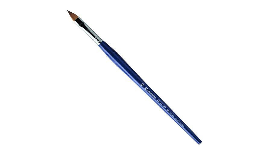 Escoda Optimo Kolinsky Sable Hair Brush - Series 2813 - Filbert - Long Handle - Size: 10