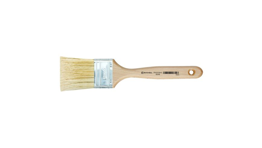 Escoda Natural Chungking Hog Bristle Flat Mural Brush - Series 8348 - Mottler Triple Thickness Square Edge - Matt Varnished (135 To 185 mm) Handle - Size: 12