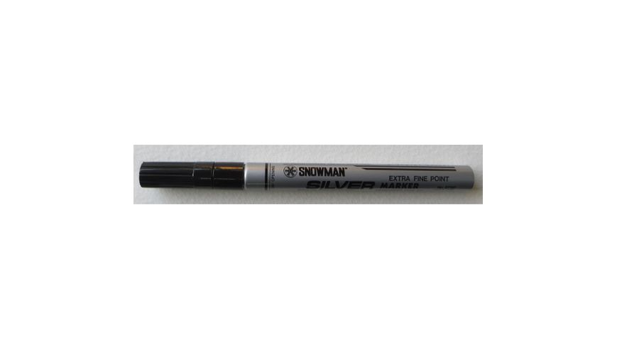 Snowman Oil Based Paint Marker - Silver - Extra Fine Tip
