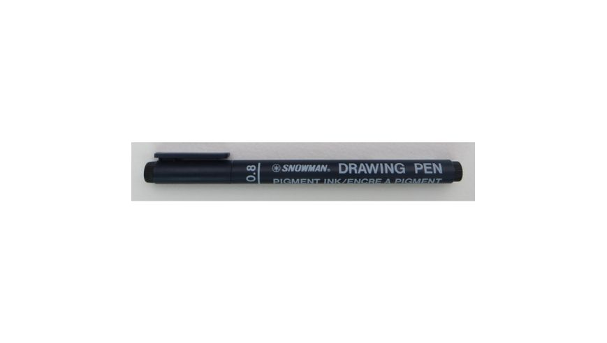 Snowman Drawing, Zentangle & Manga Pens - Black - 08