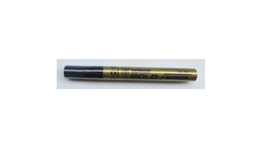 Snowman Oil Based Paint Marker - Gold - Medium Tip
