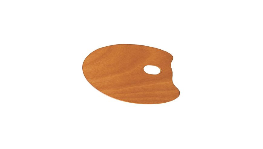 MABEF Oval Wooden Palette - 20 x 30 cm