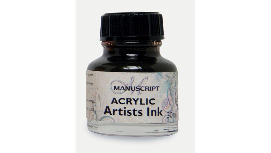 Manuscript Artists Acrylic Dip Pen Ink 30ML - Sepia