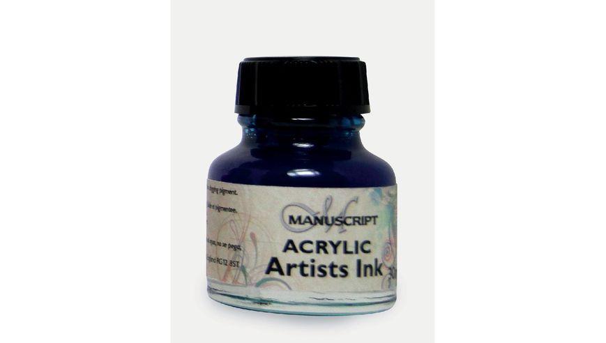 Manuscript Artists Acrylic Dip Pen Ink 30ML - Ocean Blue