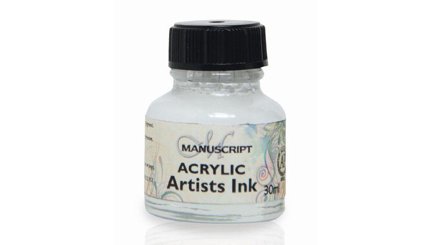 Manuscript Artists Acrylic Dip Pen Ink 30ML - White