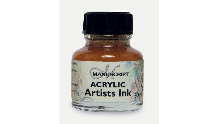 Manuscript Artists Acrylic Dip Pen Ink 30ML - Metallic Gold