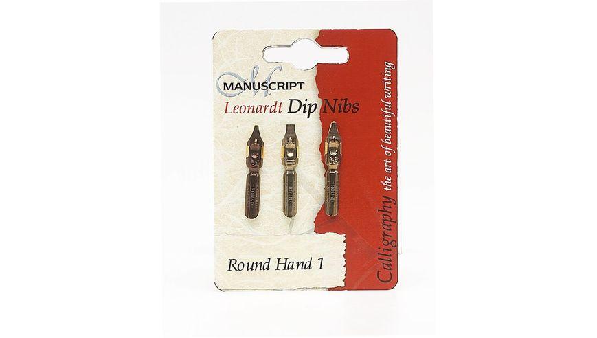 Manuscript Leonardt Round Hand Nib Set of 3 - Set 1