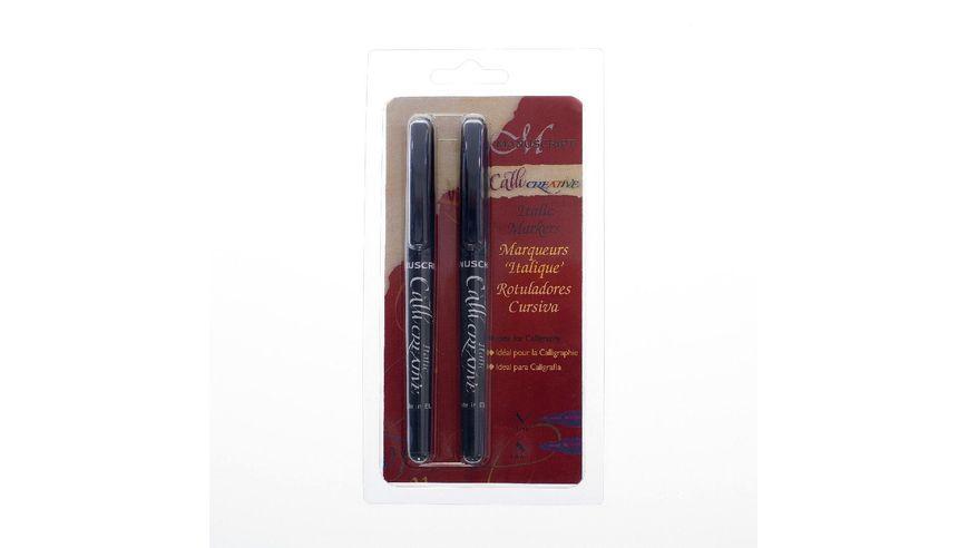 Manuscript Callicreative 2 Italic Marker Pens - Med & Extra Broad