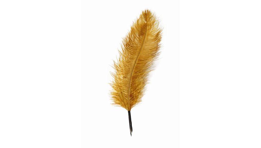 Manuscript Ostrich Quill Pen - Gold