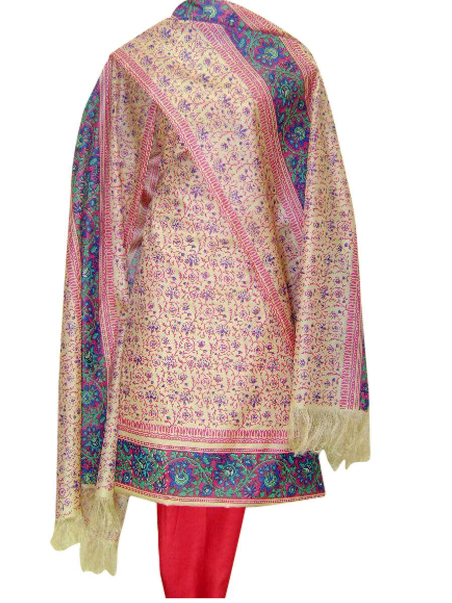 c86621b552 Home · Printed Tussar Silk Suit Material Pink Color · Zoom · Printed ...