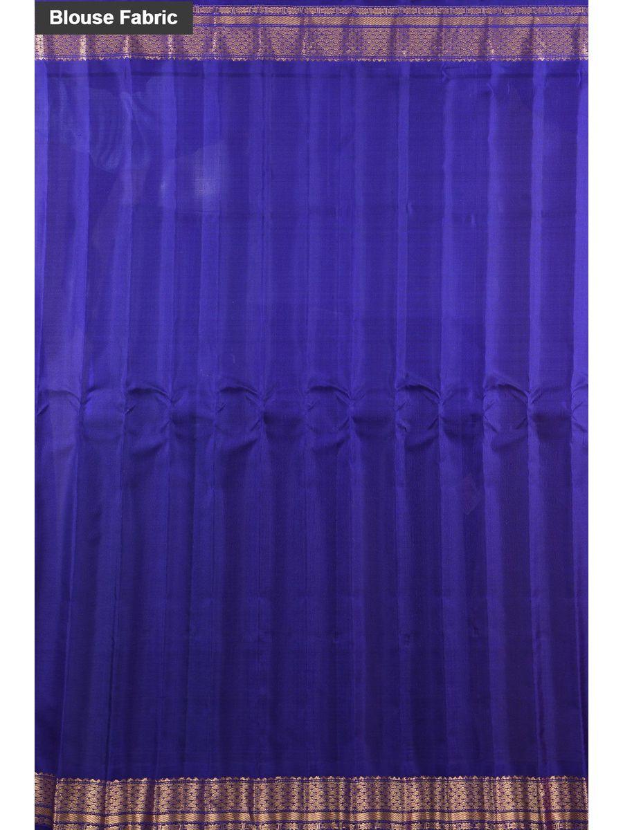 Red Blue Pure Gadwal Silk Saree - Handloom