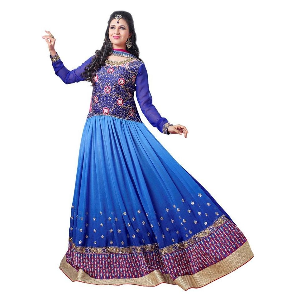 Embroidery Dress Material Anarkali Suit With Dupatta