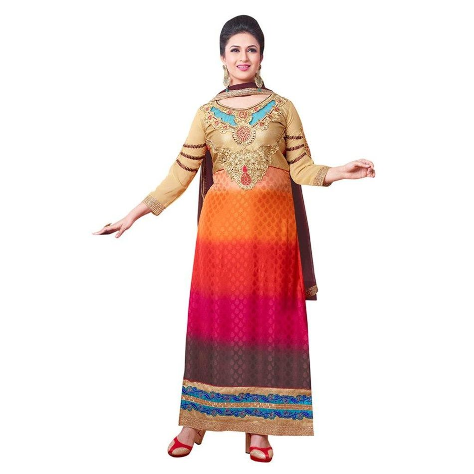 Embroidery Dress Material Straight Suit With Dupatta